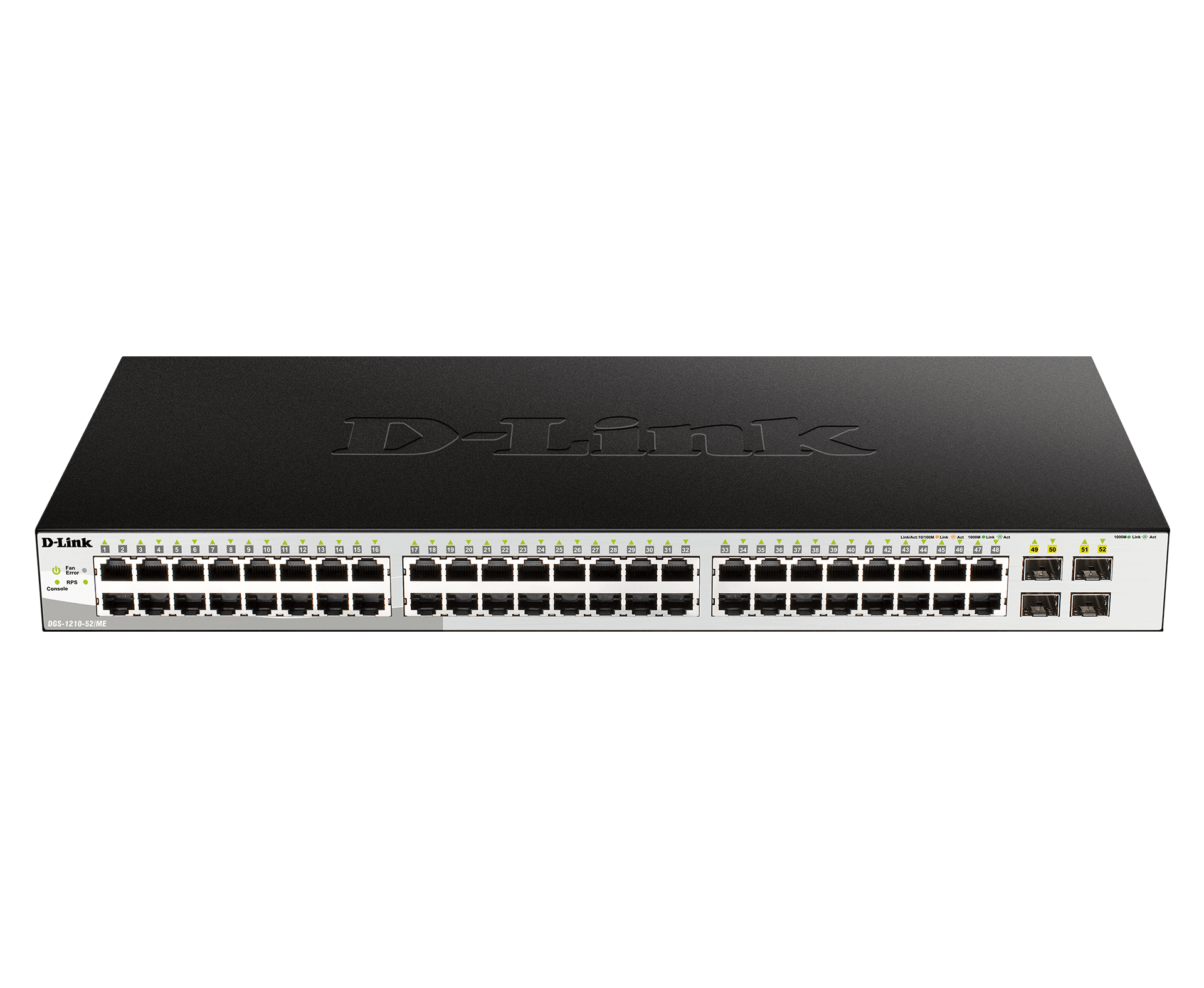 Switch Gigabit Metro Ethernet de 52 portas