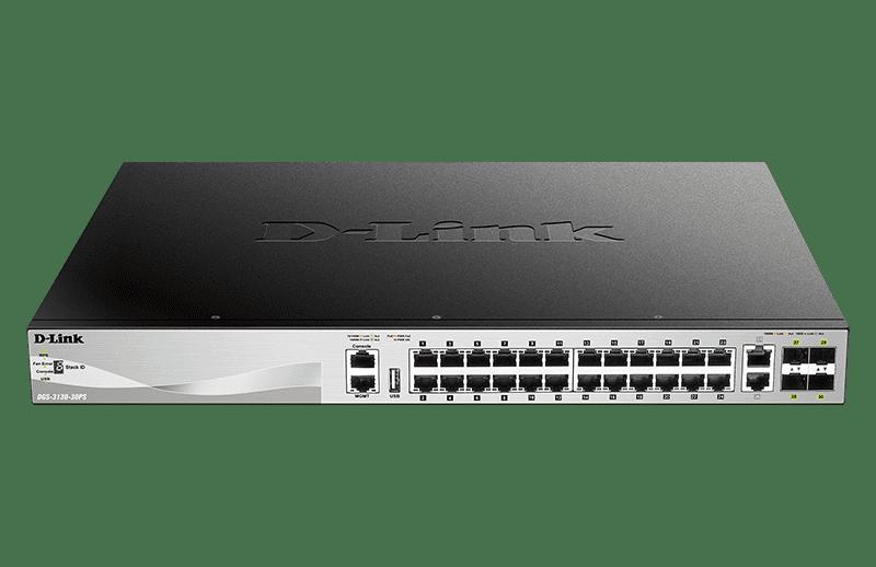 Switch PoE Gigabit Gerenciável de 30 Portas e 3 Camadas
