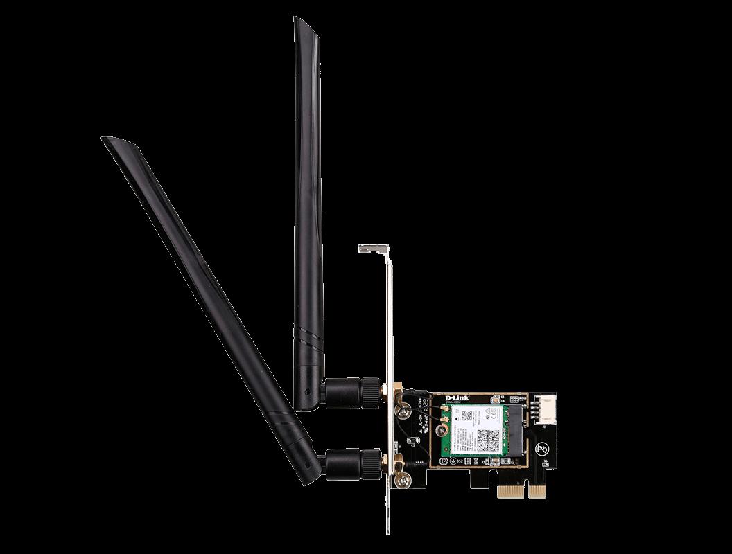 Placa de Rede Wi-Fi 6 AX3000 PCI-Ex MU-MIMO